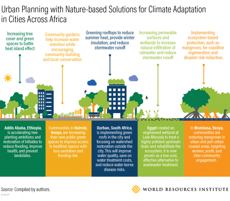 Urban planning with nature-based solutions for climate adaptation in cities across Africa