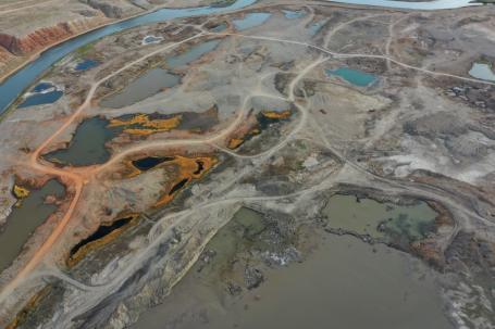 Mining near Erdenetsagaan, Mongolia. Photo by Munkhgerel Baterdene