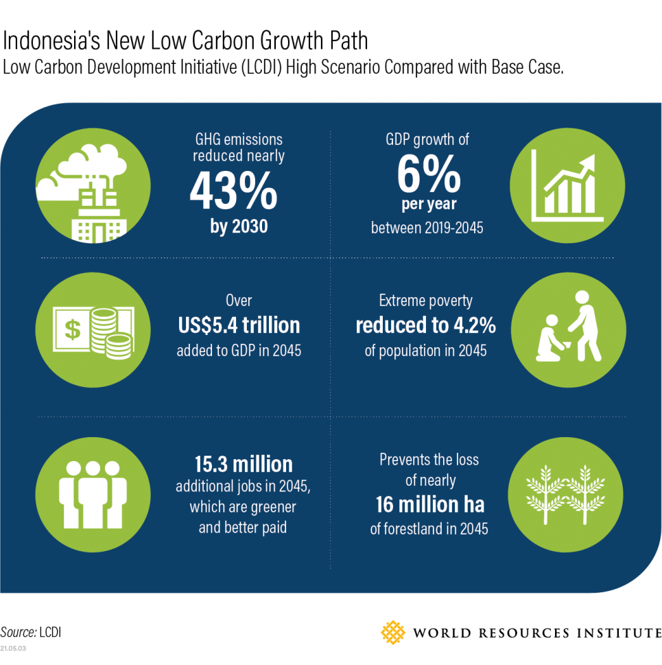 Indonesia's new low-carbon growth path