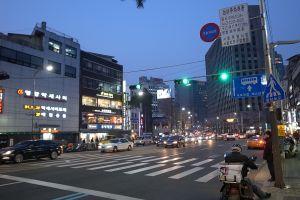 Korean city at night