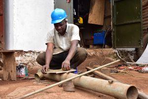 Sanitation entrepreneur in Kampala. Photo: Water for People.