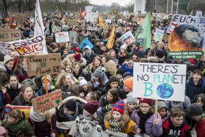 Climate change demonstration in Berlin, Germany