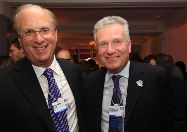 Lawrence Fink, BlackRock CEO, on left. Photo by Financial Times/Flickr