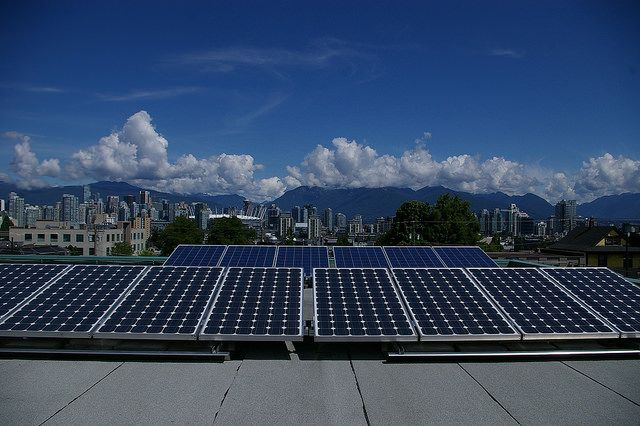 Solar installation in Vancouver, British Columbia
