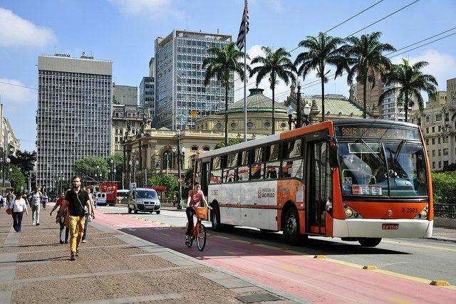 Bus is Sao Paulo, Brazil