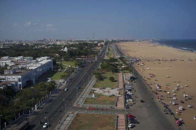 The waterfront in Chennai, Tamil Nadu. Flickr/Aleksander Zykov