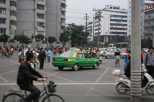 Crossroad in Chengdu, China