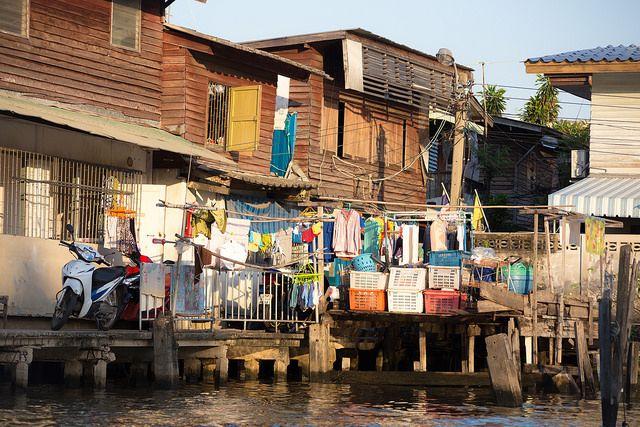 Slum in Bangkok, Thailand