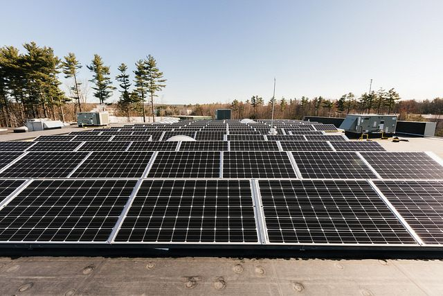 Solar array in Portland, Maine
