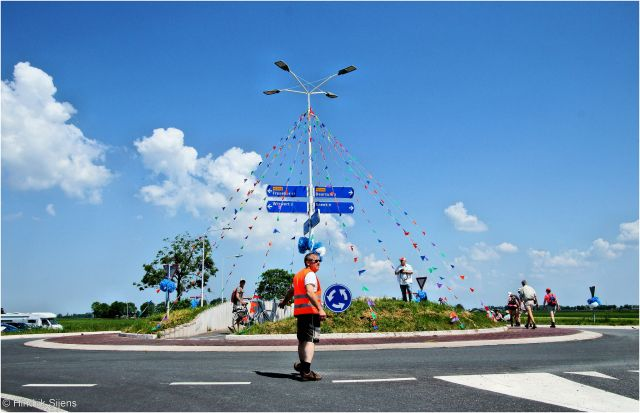 A roundabout in Frise, Netherlands. Flickr/Hendrik Sijens