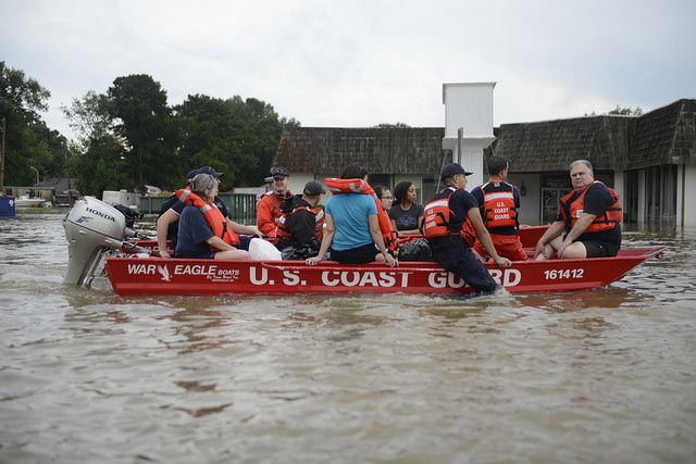 U.S. Coast Guard rescues citizens from a 2016 flood in Louisiana
