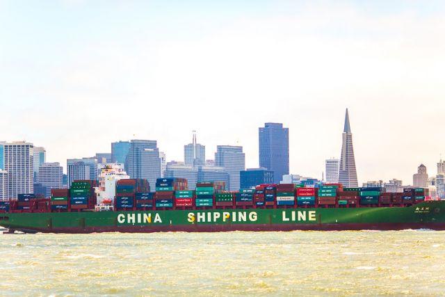 Cargo ship near San Francisco