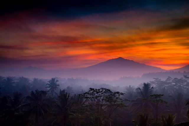 Sunrise over Mount Merapi in Java. Flickr/Paul Williams