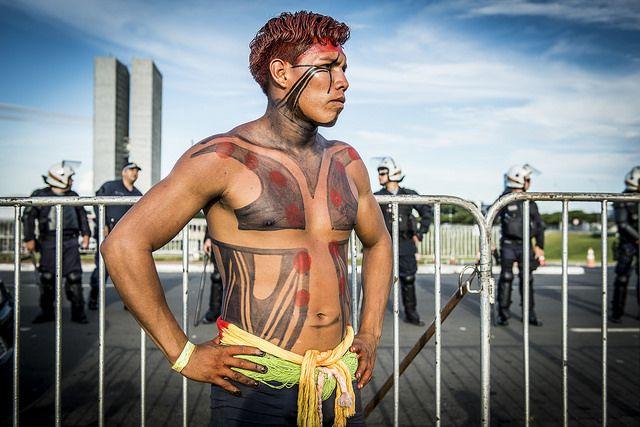 Brazilian protester