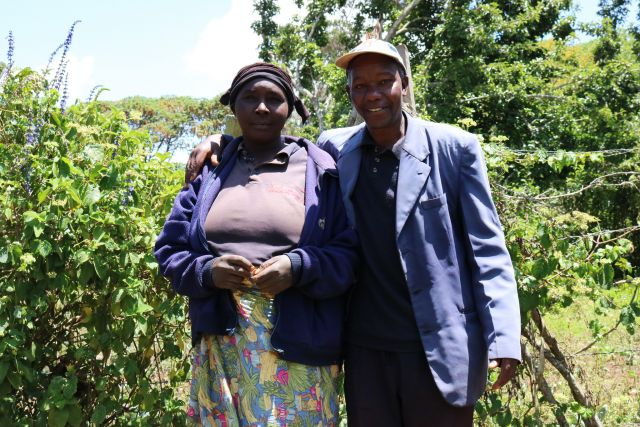 Farmer couple in Aberdare Mountains in Kenya.