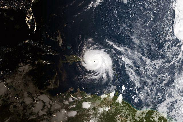 Hurricane Maria near Puerto Rico