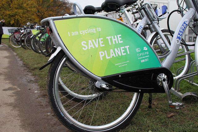Bikes at COP23 in Bonn, Germany