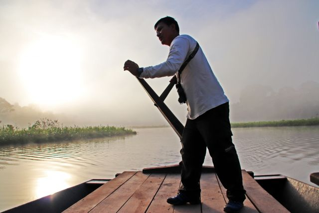 River guide on the Peruvian Amazon. Flickr/World Resources Institute