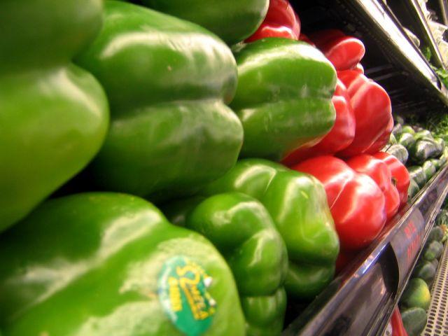 Veggies in a market. Flickr/Robert Terrell