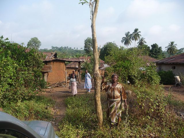 People in Nigerian village