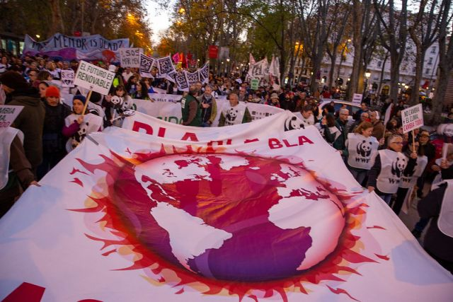 climate march in Madrid