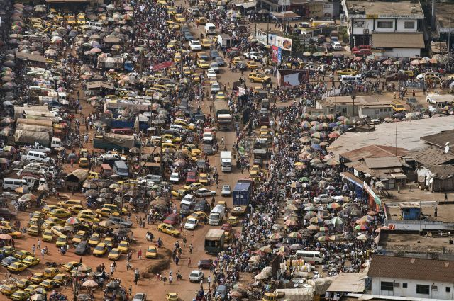 Aerial view of streets in Monrovia, the capital of Liberia. Flickr/UN Photo