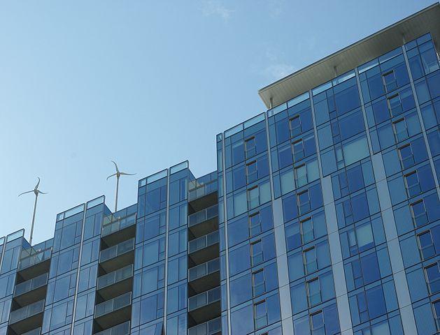 Rooftop wind turbines in Portland, Oregon