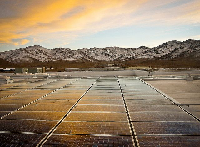 Black Rock Solar photovoltaic array at Food Bank of Northern Nevada