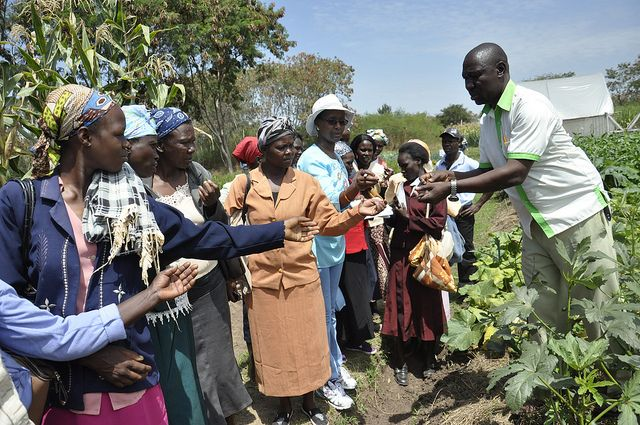 Training women farmers in Kenya