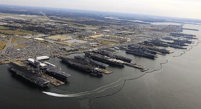 9 Flattops at Norfolk naval base