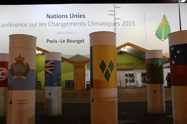 Entrance to Paris climate conference. Photo credit: WRI