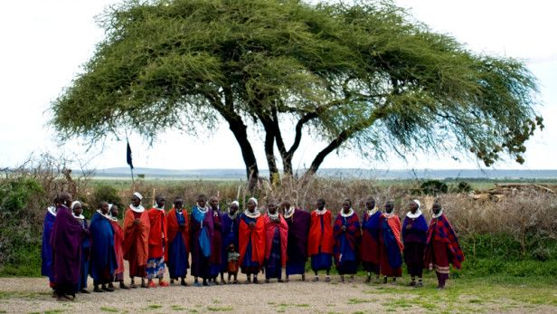 Maasai tribe in the Serengeti National Park.
