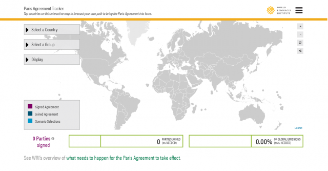 The Paris Agreement Tracker