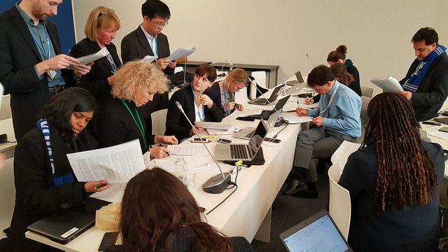 Members of WRI's COP21 team. Photo credit: WRI