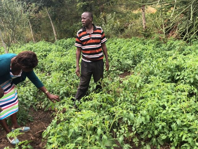 Abel Mutie, a Kenyan farmer