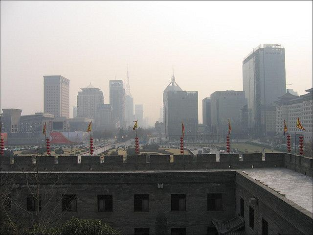 Air pollution in China's Shaanxi Province. Photo by Gilad Rom/Flickr