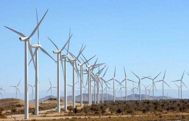 Wind farm in California, United States