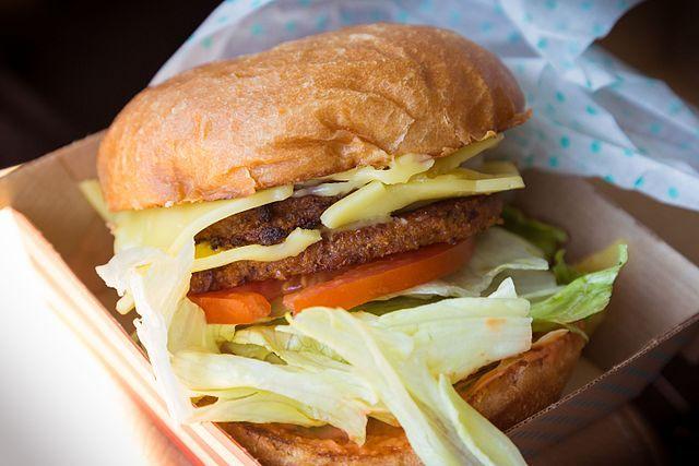 Amys vegan fast food burger