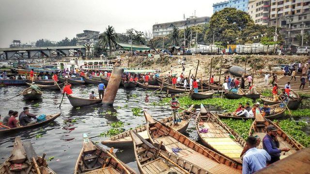 Boats in Dhaka, Bangladesh