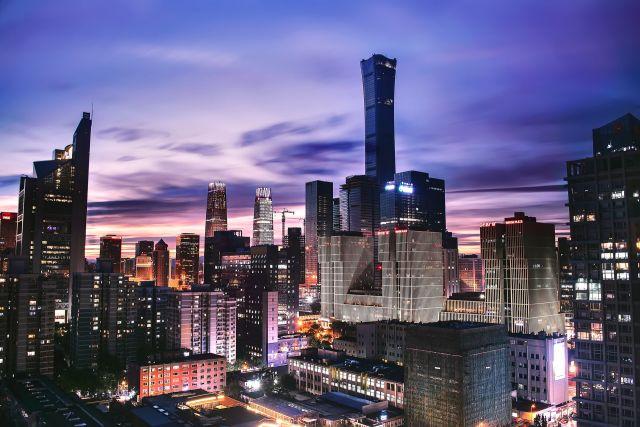 A cityscape in Beijing.