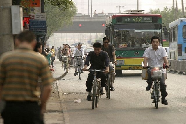 Beijing bicyclists. Photo Credit: Rich Bee/Flickr
