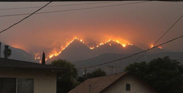 Bobcat Fire, as seen from Monrovia, California