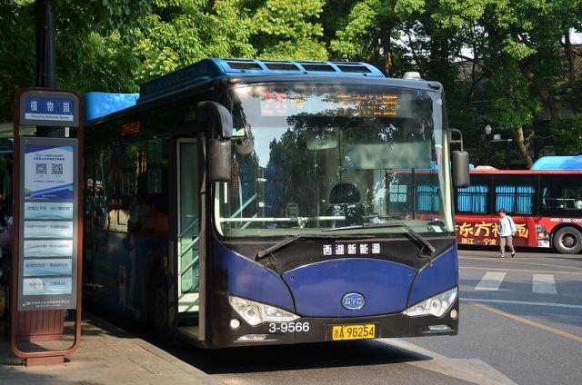 Electric bus in Hangzhou, China