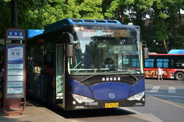 Electric bus in Hangzhou, China