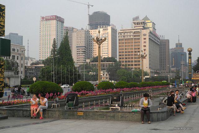 Chengdu street scene