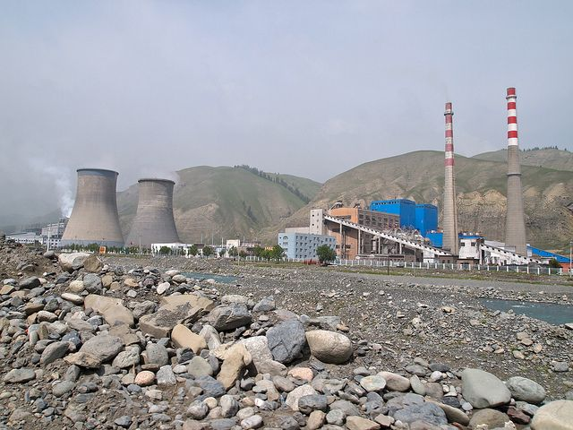 Power plant in the mountains outside Urumqi, Xinjiang, China. Photo credit: Remko Tanis