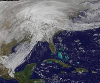 Satellite image of central U.S. storm, December 28, 2015. Photo credit: NASA/NOAA GOES Project