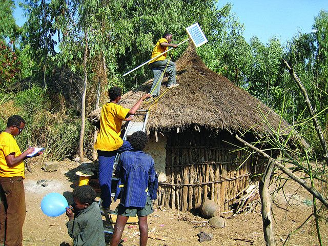 Solar panels in rural Ethiopia. (Rema, Ethiopia) Photo by Bread for the World/Flickr.
