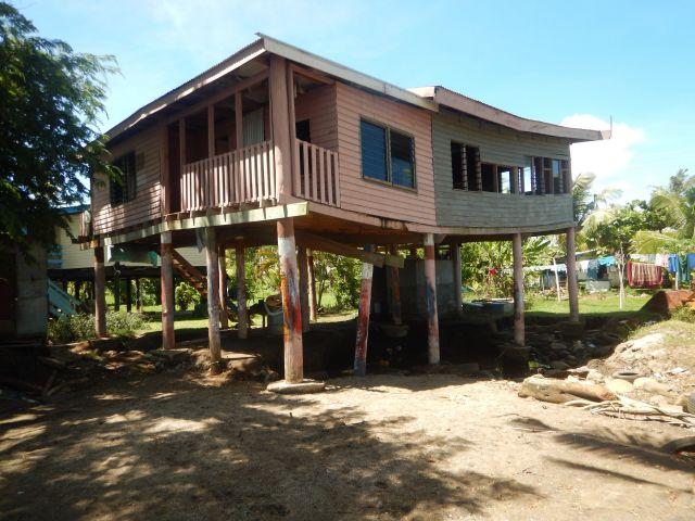 A house on stilts on the outskirts of Lautoka City, Fiji