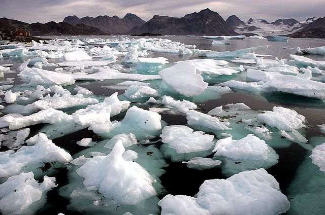 Average annual ice loss in the northeast portion of the Greenland Ice Sheet between 2006 and 2012 was more than 10 Gigatons. Photo credit: Nick Russill, Flickr
